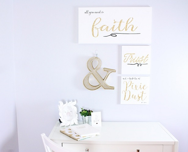 DIY Canvas Art For Your Office