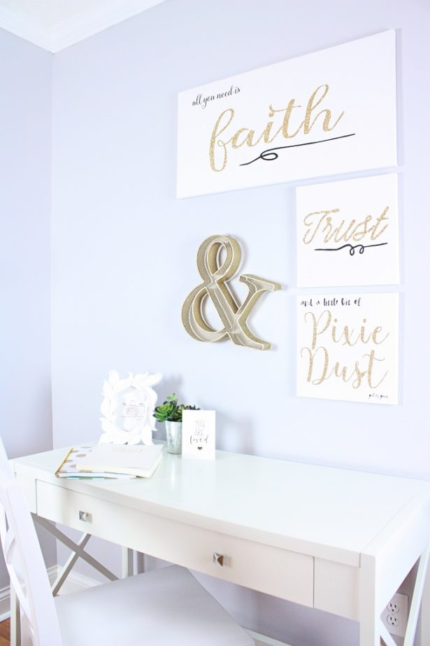 DIY Disney Quotes Canvas Art | Kim Byers TheCelebrationShoppe.com