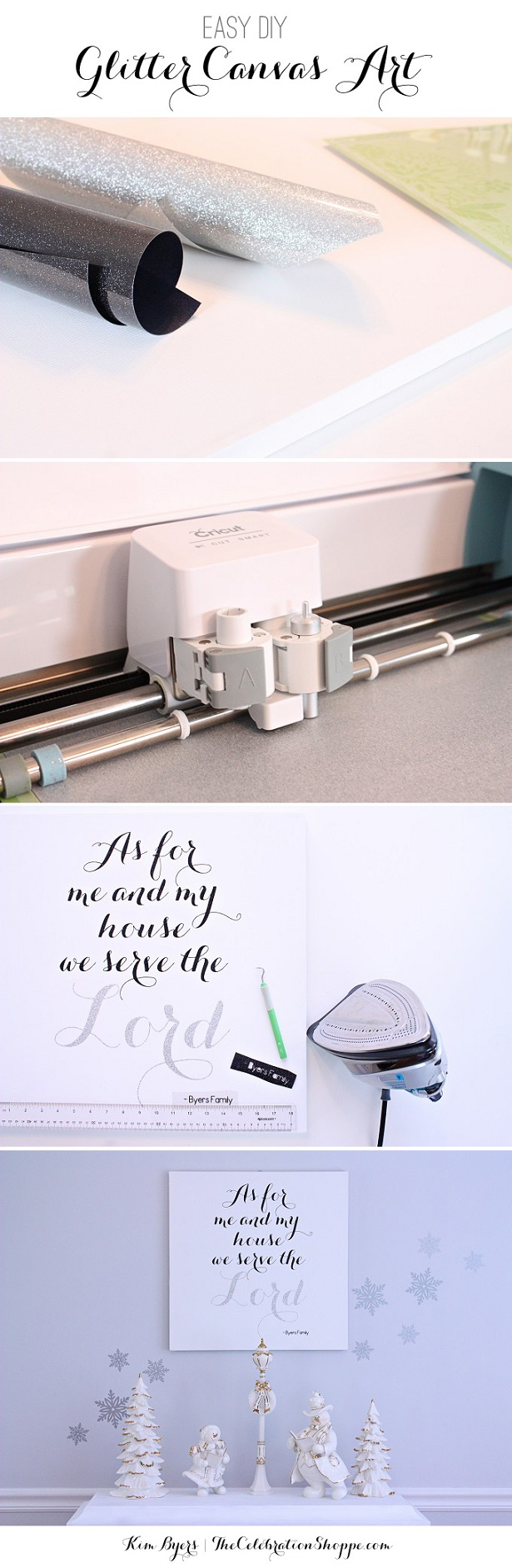 DIY Canvas Art | As For Me And My House We Serve The Lord | @kimbyers TheCelebrationShoppe.com