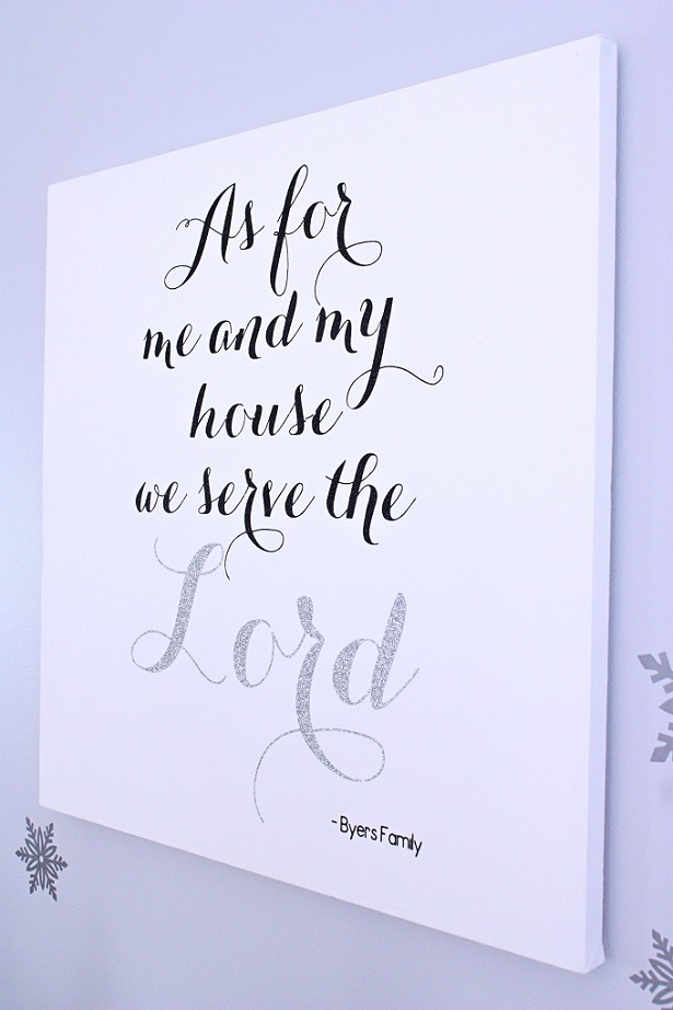 DIY Canvas Art | As for me and my house we serve the Lord | @kimbyers | TheCelebrationShoppe.com