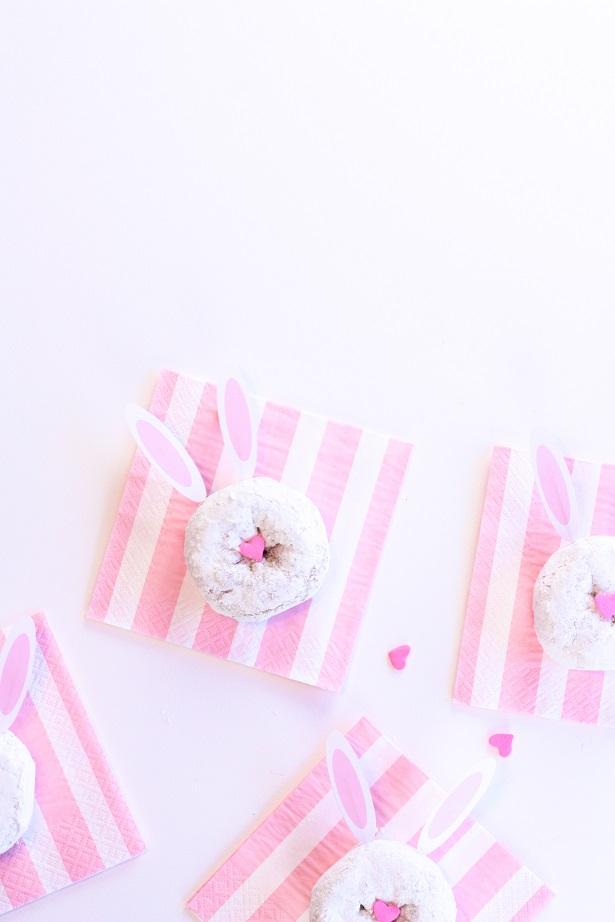 Easter Bunny Donuts + Free Printable Bunny Ears