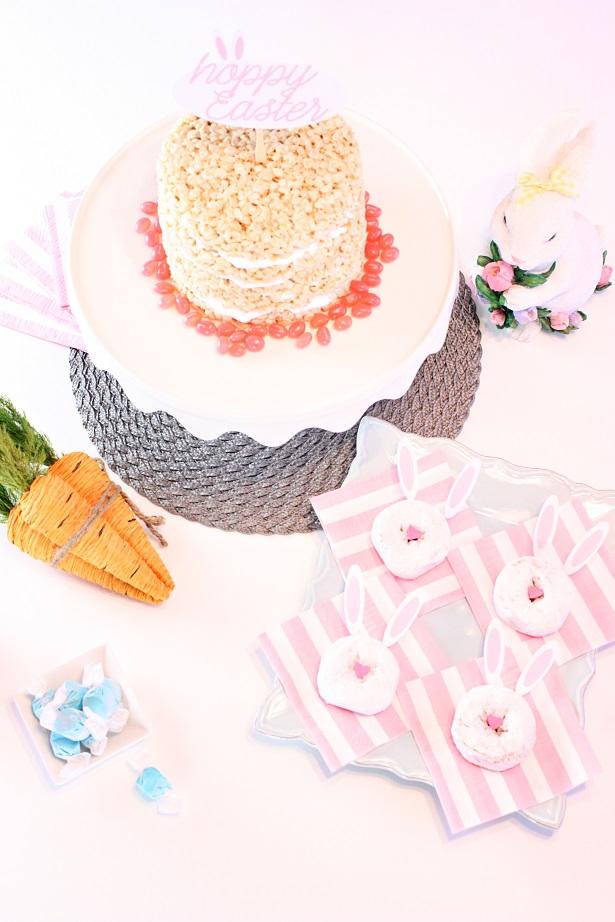 Easter Marshmallow Rice Crispies Cake   @kimbyers