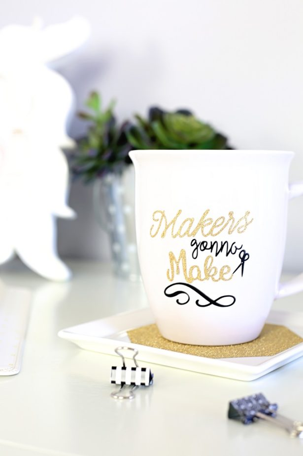 DIY Cricut Project - Makers Gonna Make Coffee Mug | Kim Byers