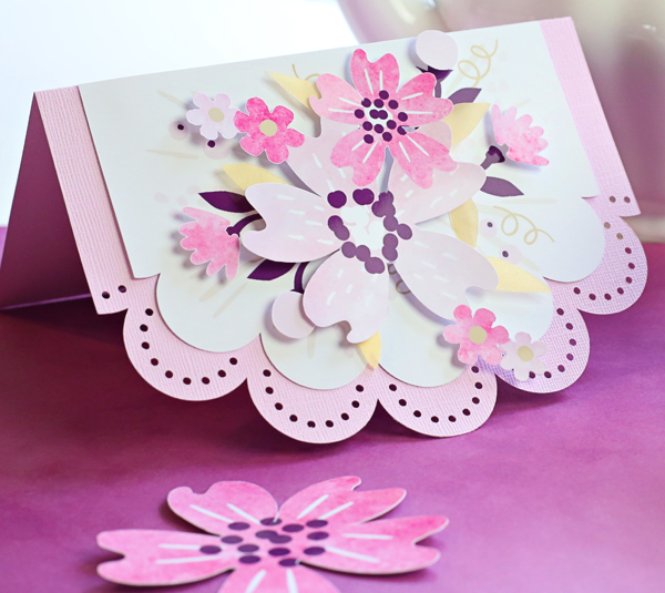 Watercolor Flowers and DIY Eyelet Card | Kim Byers For Cricut