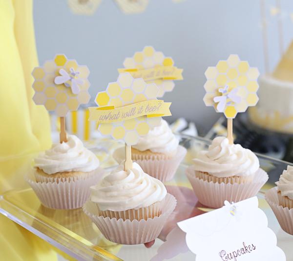 Bee Baby Shower Cupcakes | Kim Byers