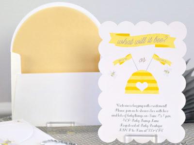 Bee baby shower invitation kim byers 6826 cr