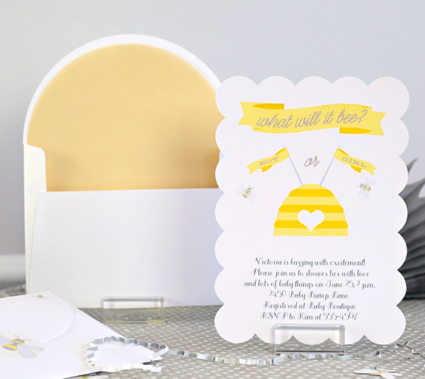 Bee baby shower invitation kim byers 6826 cr