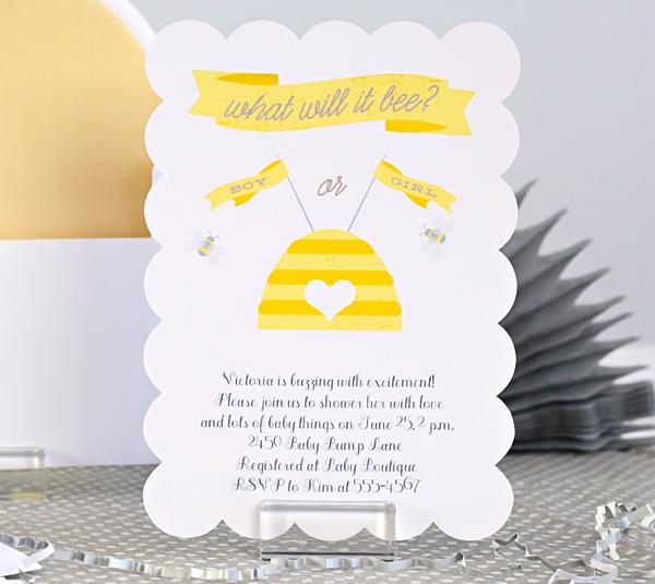 Gender Reveal Baby Shower Invite | Kim Byers