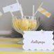Bee baby shower placecards kim byers 6336