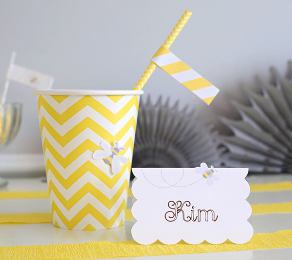 Easy Calligraphy Scallop Placecards | Kim Byers