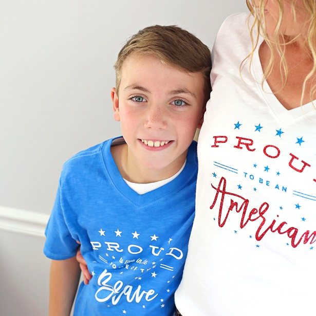 Make Patriotic Tees For The Family | Kim Byers