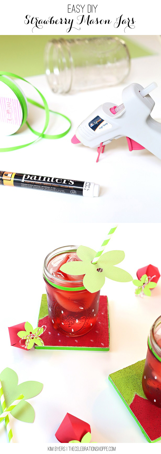 DIY Strawberry Mason Jars   Kim Byers