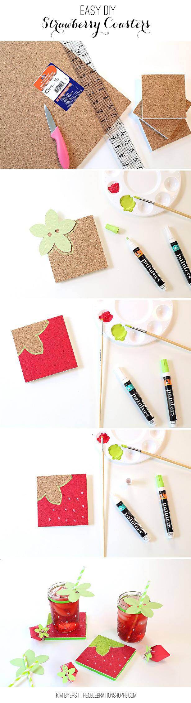 Easy DIY Strawberry Coaster Tutorial   Kim Byers
