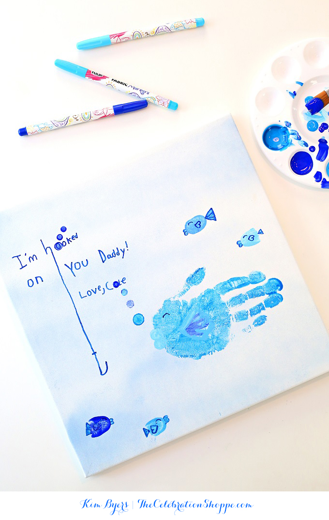 Fathers day kid craft handprint kim byers