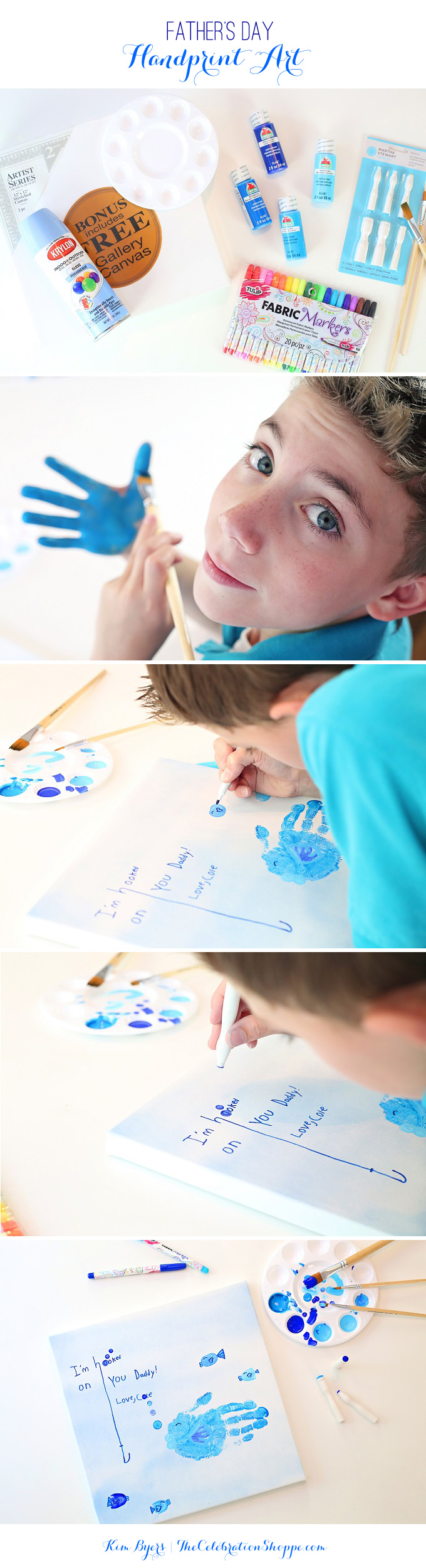 Fathers Day Fish Handprint Art Tutorial   Kim Byers