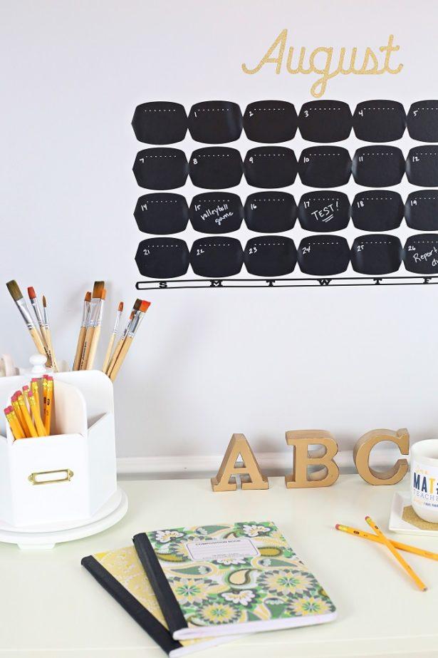 DIY Chalkboard Calendar | Kim Byers