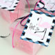 Black pink lets flamingle favor tags kim byers
