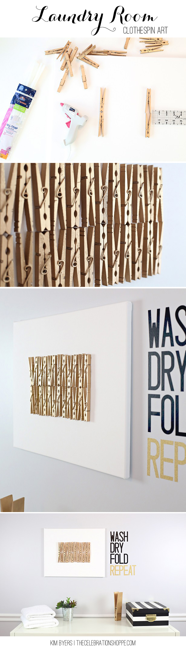 Clothespin Crafts For The Laundry Room | Kim Byers