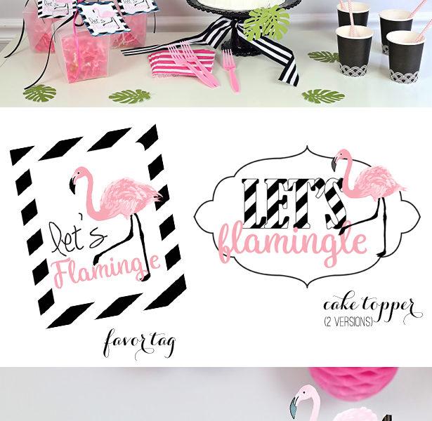 Flamingo party free printable kim byers