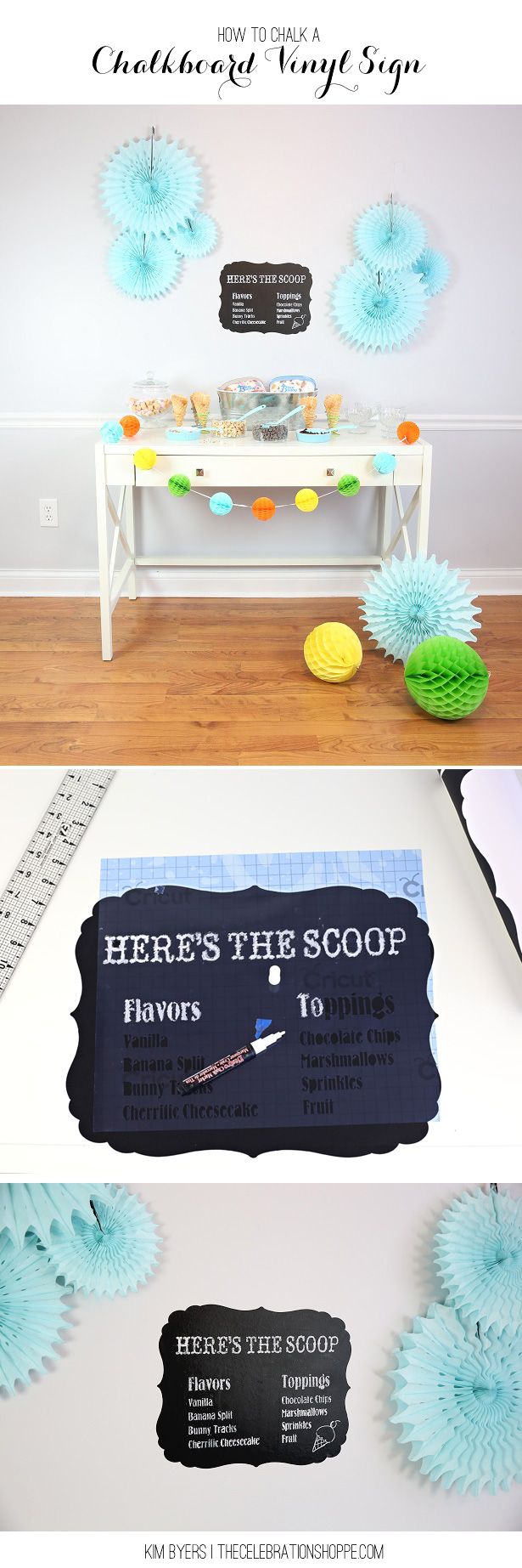 How to craft a chalkboard sign kim byers