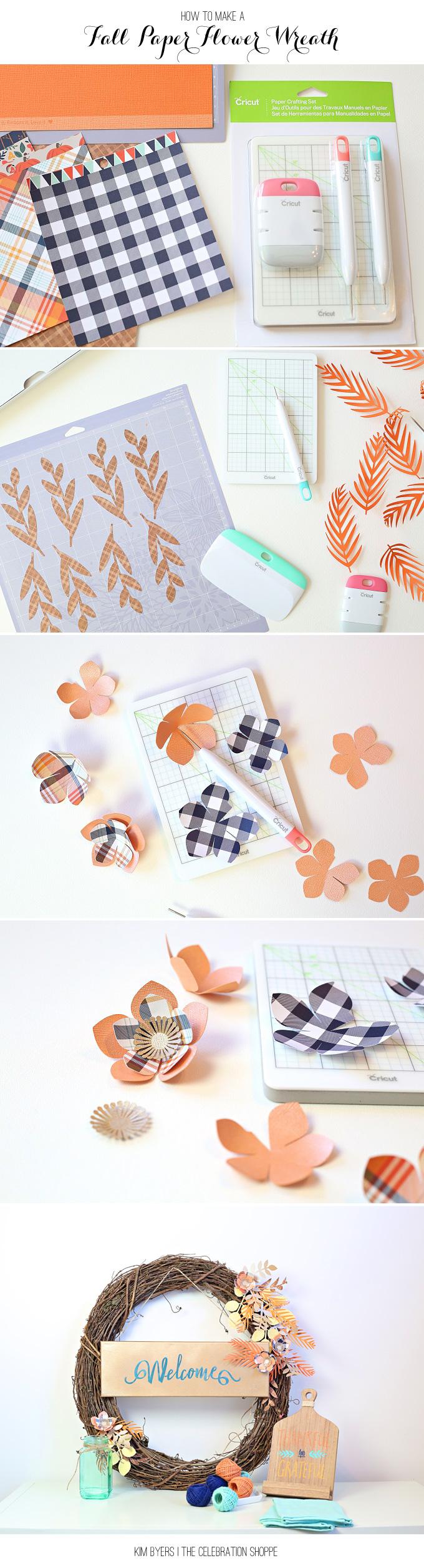 Make A Paper Flower Wreath