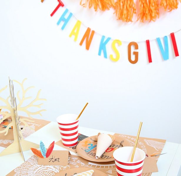 1 kid thanksgiving table crafts kim byers