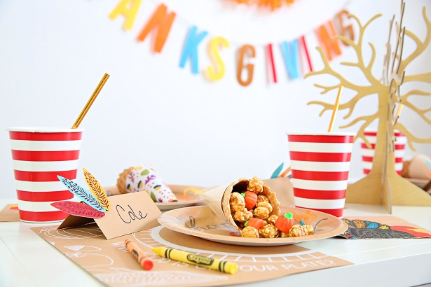 Easy Crafts For Kids' Thanksgiving Table | Kim Byers