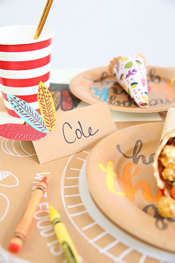 Paper Craft Thanksgiving Placecards | Kim Byers