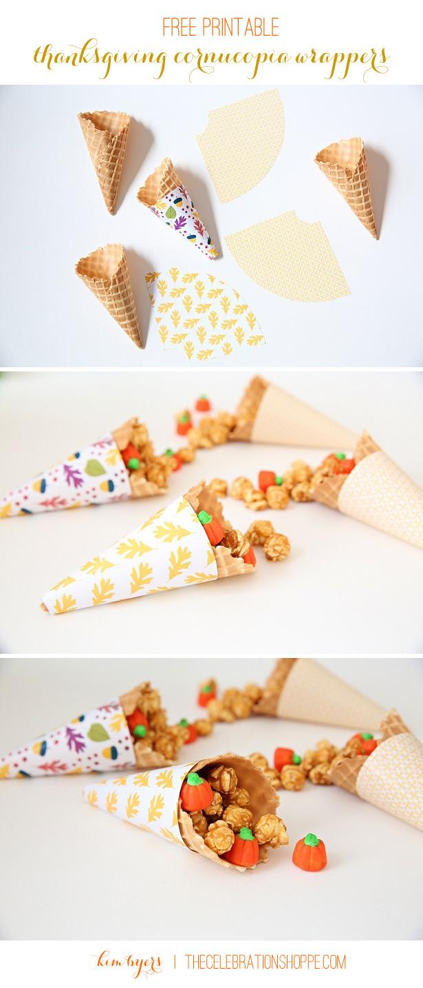 Free Printable Cornucopia Wrappers | Kim Byers