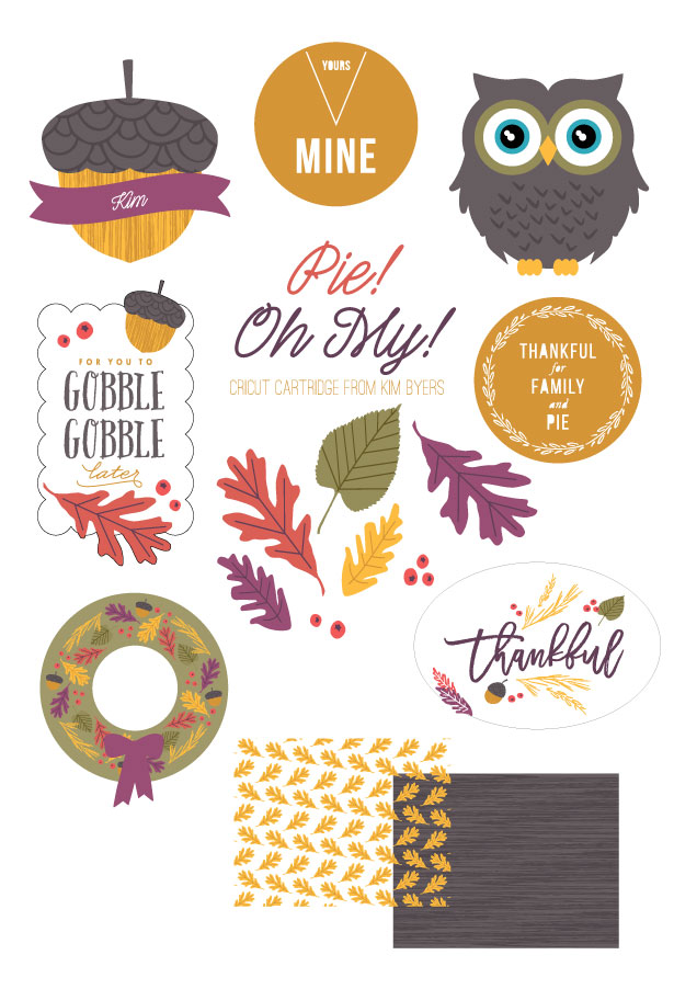 Fall Thanksgiving Cricut Cartridge | Kim Byers