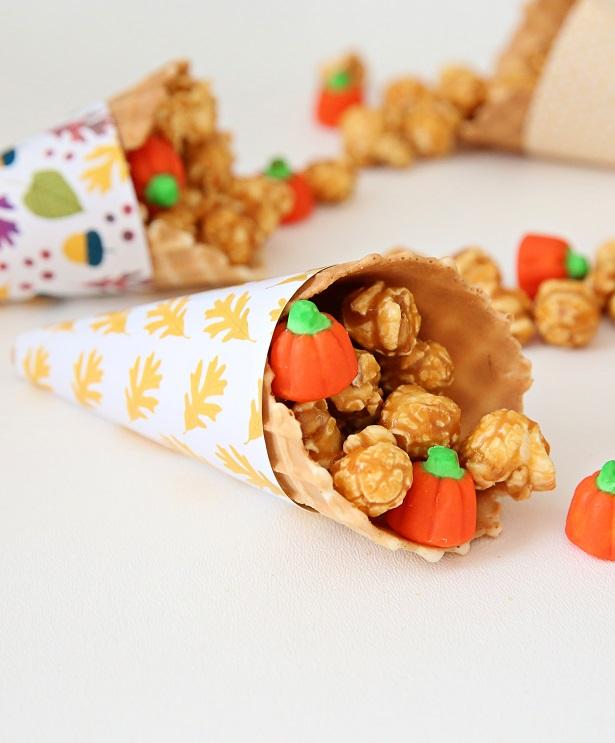 Free Printable Thanksgiving Cornucopia Wrappers | Kim Byers