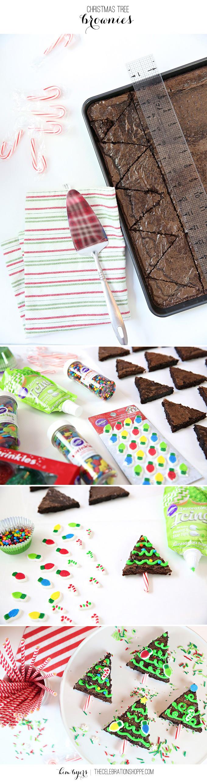 How To Make Christmas Tree Brownies | Kim Byers