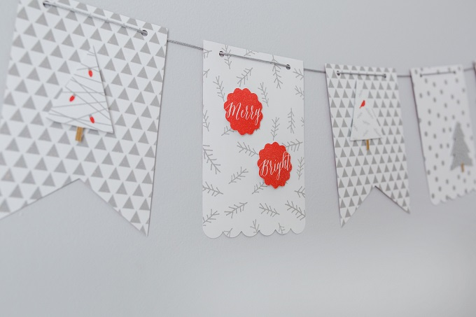 Silver White Red Christmas Banner   Kim Byers