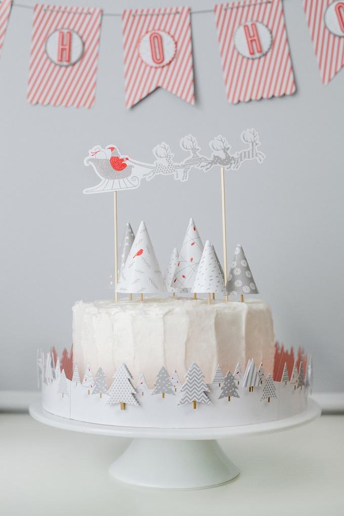 Santa Cake Topper   Kim Byers