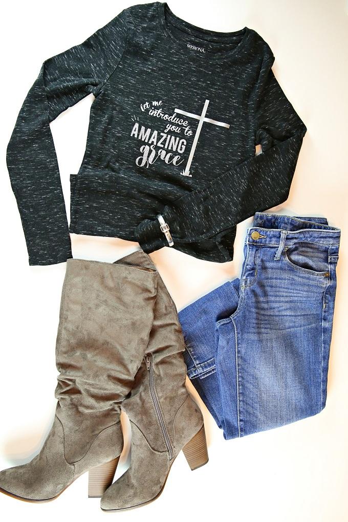 DIY Amazing Grace Tshirt & FREE SVG | Kim Byers