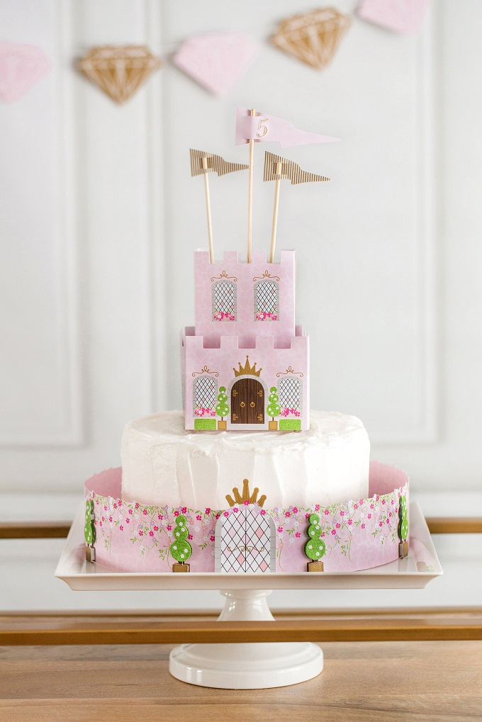 Princess castle cake paper craft kim byers
