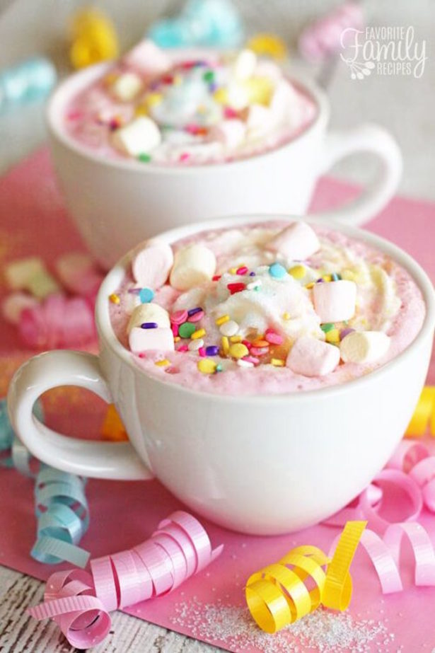 Unicorn party hot chocolate favorite family recipes
