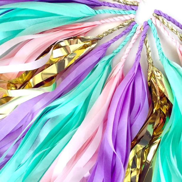 Unicorn party tassel garland