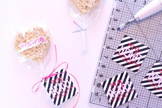 Free Printable Stripe Valentine Tags