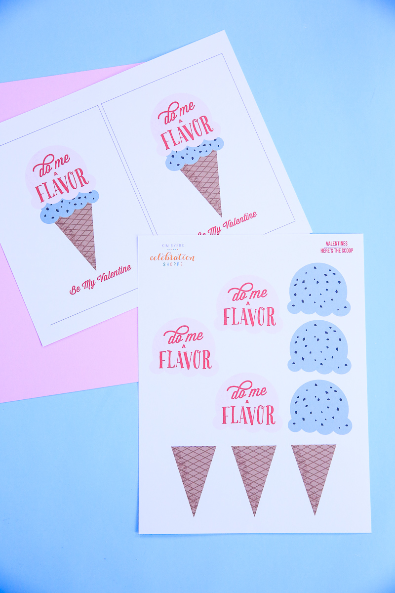 2 valentine ice cream card printable kim byers