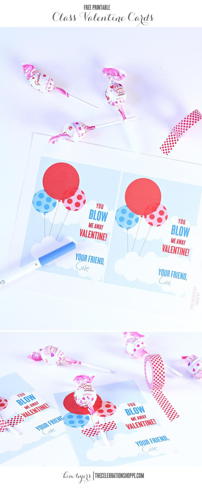 You Blow Me Away Class Valentine | Kim Byers