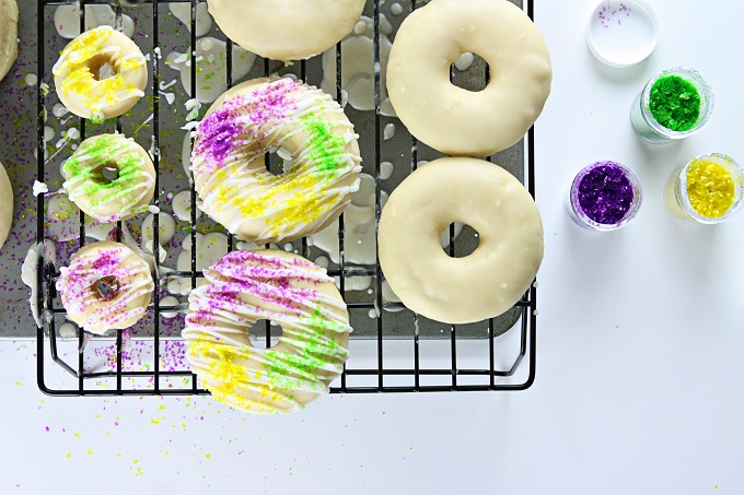 Mardi Gras King Cake Doughnuts | Kim Byers