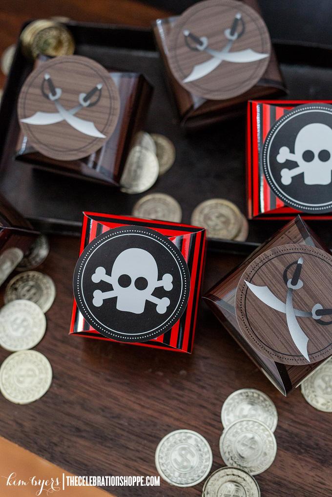 Pirate Favor Boxes | Kim Byers
