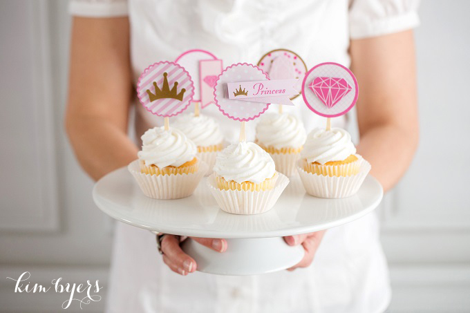 Pink & Gold Princess Cupcakes | Kim Byers