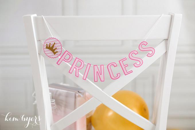 Princess Party Banner | Kim Byers