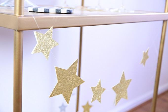 DIY Glitter Star Garland   Kim Byers