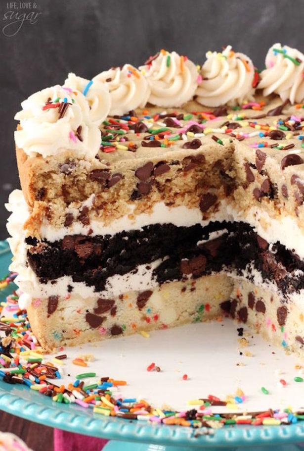 Layered Chocolate Chip Cookie Cake   Kim Byers