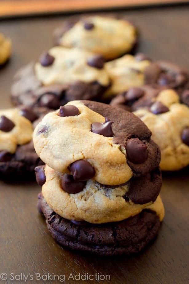 Chocolate Chip Peanut Butter Swirl Cookie Recipe