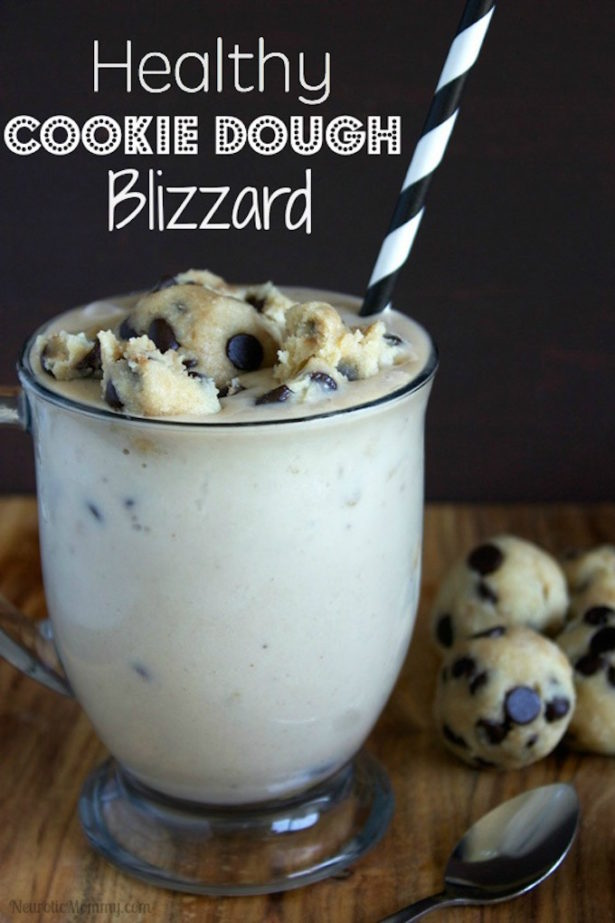 Chocolate Chip Cookie Dough Blizzard