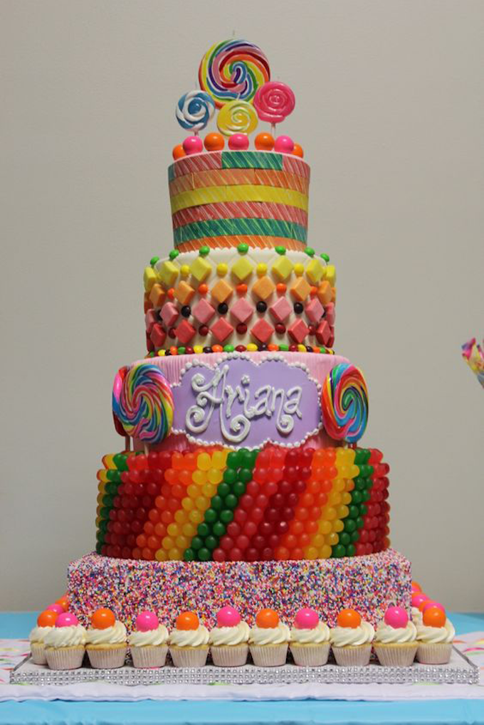 Candy Birthday Cake For Candyland Party